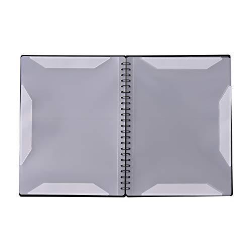 Kalaok Cartella porta documenti multifunzionale per documenti formato A4 Cartella porta documenti per documenti formato A4 con 40 tasche
