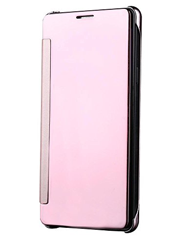 Sun Mobisys®; Samsung Galaxy S5 G900 Flip Cover; Clear View Flip Cover for Samsung Galaxy S5 G900 Rose Pink Mirror  available at amazon for Rs.724