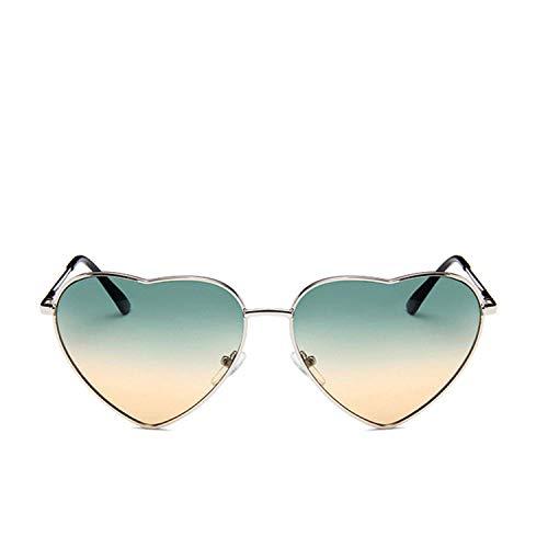WERERT Sportbrille Sonnenbrillen Vintage Heart Sunglasses Women Candy Color Gradient Sun Glasses Outdoor Goggles Party