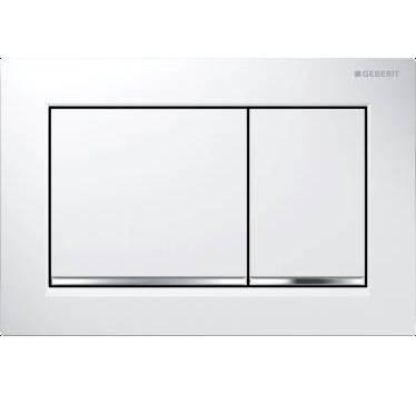 Preisvergleich Produktbild Abdeckplatte wei–verchromt/glänzend–Omega 20–GEBERIT