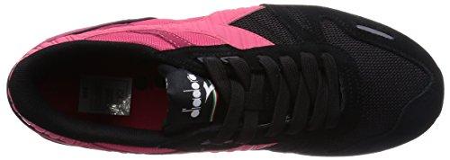 Diadora Titan Ii, Chaussures Mixte Adulte, 42.5 EU Noir/Tomato