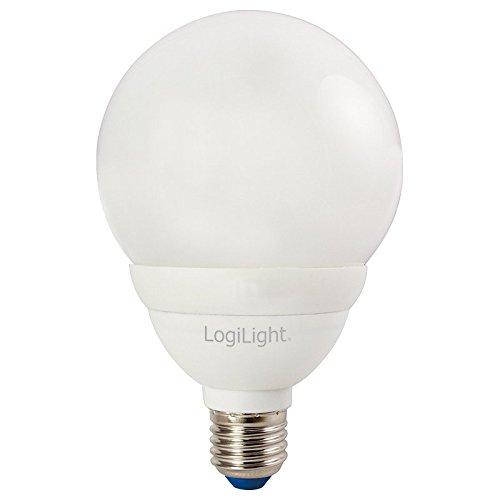 Logilink Energiesparlampe, 15 W E27 Globe ESL006
