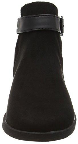 New Look Damen Carlos Multi Strap Kurzschaft Stiefel Black (01/Black)