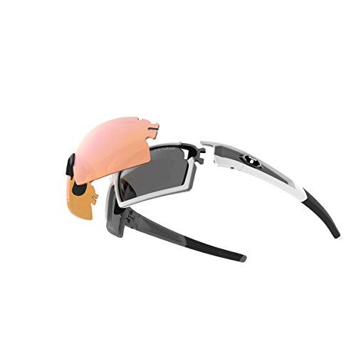 Tifosi Escalate SF Glasses Herren White/Gunmetal - Smoke/ac red/Clear 2018 Fahrradbrille