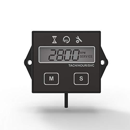 Runleader Digitaler Betriebsstundenzähler Drehzahlmesser, Wartungserinnerung, Benutzerabschaltung, Verwendung für ZTR Rasenmäher Traktor Generator Marine Außenborder ATV Motor Motorschlitten