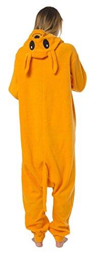 Kangaroo Kinder Kostüm (Katara 1744 -Kangaroo Kostüm-Anzug Onesie/Jumpsuit Einteiler Body für Erwachsene Damen Herren als Pyjama oder Schlafanzug Unisex - viele verschiedene)