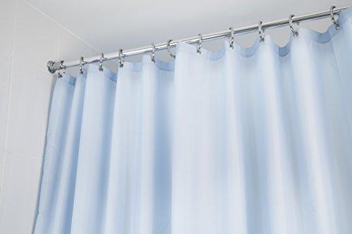 croydex-plain-light-blue-water-resistant-machine-washable-cling-resistant-textile-shower-curtain