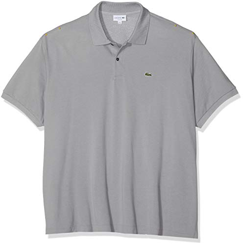 Gps Haut (Lacoste Herren Regular Fit Poloshirt L1212, Grau (Platine), L (Herstellergröße: 5))