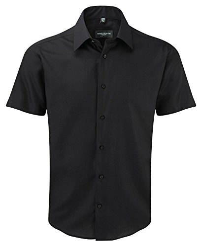 Russell Collection Ultimate Noniron ajusté T-Shirt manches courtes Noir
