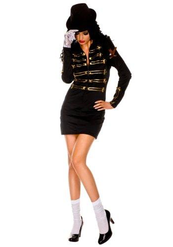 Sexy One Glove Pop Star Fancy dress costume Medium / Large