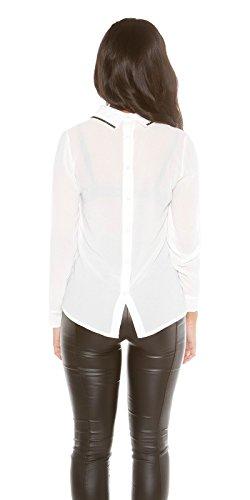 Koucla - Top à manches longues - Femme S/M Blanc