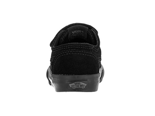 Vans Brigata V Infant White Leather Trainers (suede) black/black