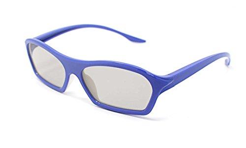 4 Paare der lila Erwachsene Passive 3D-Brille in Phillips Easy 3D Style für alle passiven TV Kino und Projektoren wie RealD Toshiba LG Panasonic und vieles mehr