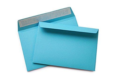hochwertige Briefumschläge C6 114×162 mm (blau) 120 g/m² ohne Fenster haftklebend (Artikel 509A) (100)