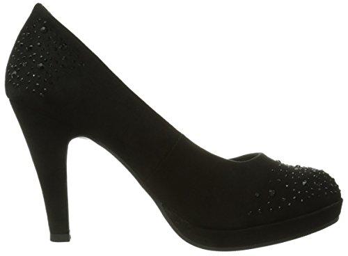 Jane Klain 224 745, Chaussures à talons avec plateau femme Noir - Schwarz (black 006)
