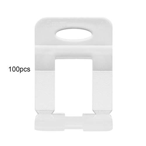 Busirde 100pcs 1/1,5/2 / 2,5/3 mm de nivelación de Las cuñas de azulejo de nivelación de los espaciadores Clips Pisos Herramientas de Mosaico Kits baldosa de Suelo White 1.5mm