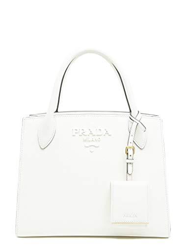 Prada Damen 1Ba156vooo2erxf0009 Weiss Leder Handtaschen