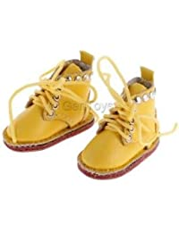 Alcoa Prime Fashion PU Leather Lace Up Martin Boots Shoes For 12'' Blythe Doll Yellow
