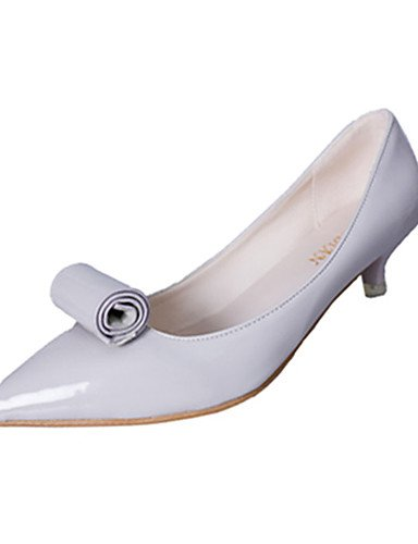 WSS 2016 Chaussures Femme-Habillé / Décontracté-Noir / Rouge / Gris-Kitten Heel-Bout Pointu / Bout Fermé-Sabots & Mules-Polyuréthane gray-us5.5 / eu36 / uk3.5 / cn35