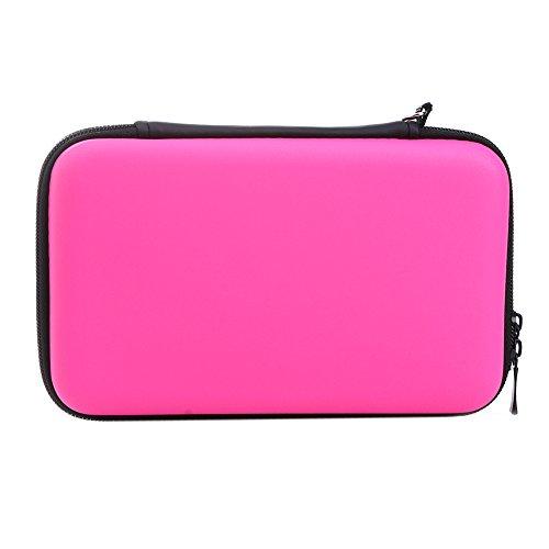 Demiawaking EVA Lagerung Reißverschluss Tasche Schutzhülle Abdeckungs Haut Gehäuse Deckel für Nintendo 3DS XL LL (Pink)