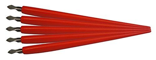 MAMMUT 144001 - Zubehör für Kratzbilder, 5er Pack Kratzmesser mit Halter, Ersatzteile, Scraper, Scratch, Messer Set zum Freikratzen von Bildern -
