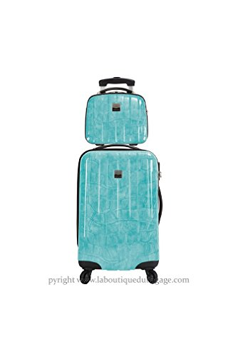FRANCE BAG - FRANCE BAG Set Valise rigide et Vanity CANCUN Vert Crocodile - 141626-2-VRC