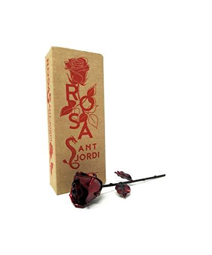 Rosa forjada a mano, no encontrarás dos rosas iguales.♥ Edición especial Sant Jordi ♥Motivo Floral en forma de Rosa realizado por maestro artesano. Visita nuestro perfil y descubre los distintos modelos y colores.