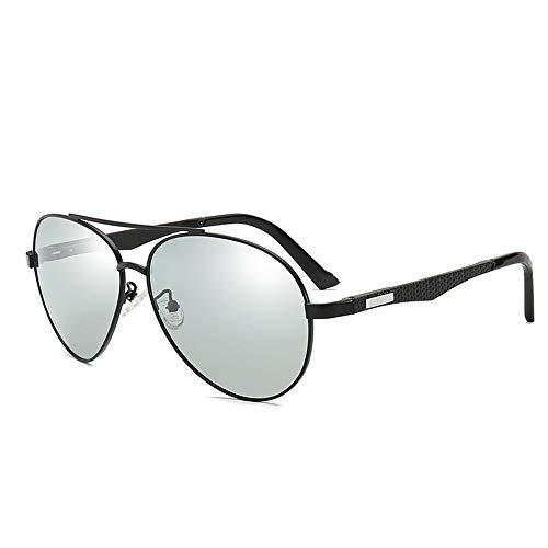 GXM-FR Sonnenbrillen, Smart Photochromic Polarized Lens Goggles für Herren, Geeignet für 100% UV-Schutz im Freien, Blendschutz, Reduziert Ermüdungserscheinungen der Augen,Black