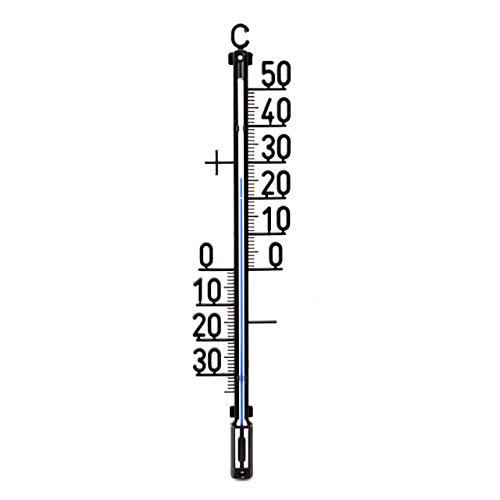 Lantelme 35 cm Außen Garten Thermometer Analog Kunststoff Aussenthermometer Temperaturanzeige -30 bis + 50 °C 3206