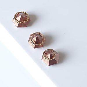 Atelier Ideco – Mini Beton Diamant, Rose Goldringe Halter