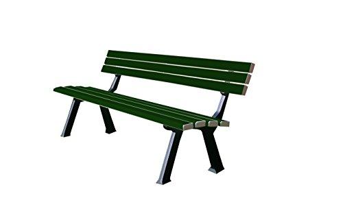LIGNIT Sitzbank mit Rückenlehne, 200x60x82 cm, 59 grün