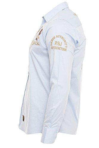 Redbridge by CIPO&BAXX Langarm Hemd Polo shirt 41609 Hell Blau