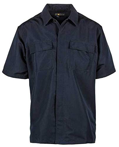 5.11 Tactical Fast-Tac TDU Short Sleeve Shirt Dark Navy, XL, Dark Navy -