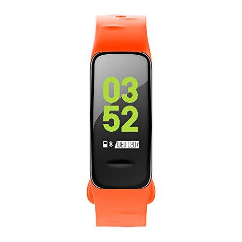 Preisvergleich Produktbild C1plus Smart Armband Herzfrequenzüberwachung Schrittzähler Anti-Aquarell-Bildschirm Sportarmband, Orange