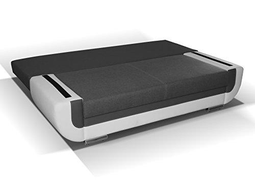 3er Sofa Hector mit Staukasten und Bettfunktion - Abmessungen: 204 x 90 cm (B x T) - 2