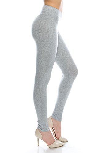 BaumwollSpandex Grund Knit Jersey Regular Voll-Gamaschen-Hosen H Grau M (Pants Knit Jersey)