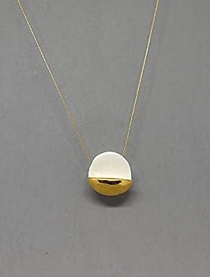Pendentif en or et porcelaine moderne, bijoux en céramique, pendentif géométrique, pendentif minimaliste.