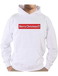 Settantallora - Felpa con Cappuccio J3161 Merry Christmas Grafica da  Indossare Il Giorno di Natale d90100e98ec6