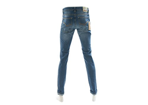 JustGlam - Jeans für Mann 5-Pocket Stretch j.rodino hervorragende Passform Made in Italy Blau