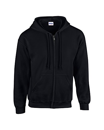 youth full zip hooded sweatshirt Black L ()