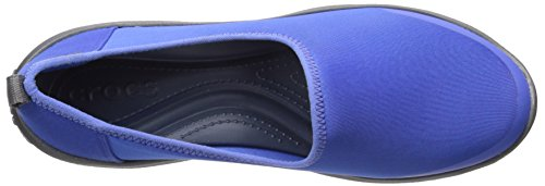 CROCS - BUSY DAY STRETCH SKIMMER black graphite Blu ceruleo