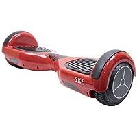 PNI Scooter eléctrico Escolta SK8 Wheels 6.5 Pulgadas de vermello