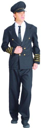 KULTFAKTOR GmbH Nobler Kapitän Kostüm Uniform schwarz-Gold -
