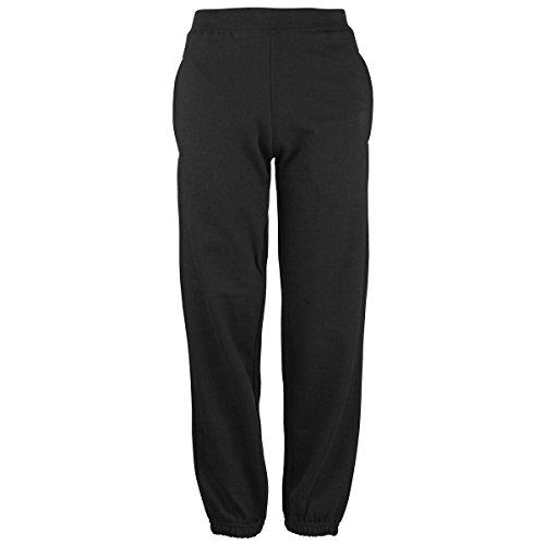 Kids cuffed sweatpants Jet Black 7-8 years Pantalone Tuta Bambino