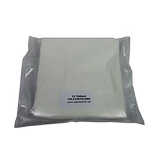 YACHTICON 20 hochwertige Viskose Politurtücher reinigen mit besten Tücher und Lappen. Weiß, lösungsmittelbeständig, saugstark, fusselfrei, saugstark, mehrfach verwendbar, Pflegetuch: 38 x 35 cm