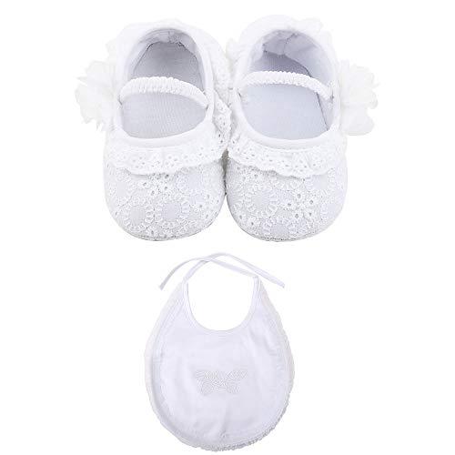 OOSAKU Zapatos de bebé niña, niños pequeños Encaje Infantil Bautizo Bautismo Floral Zapatos de Princesa...