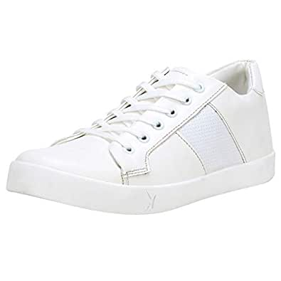 Kraasa Casuals Sneakers for Men White UK 6