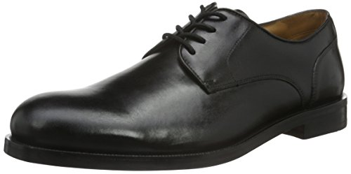 Clarks Coling Limit, Zapatos de Cordones Oxford para Hombre, Negro (Black Leather), 43 EU