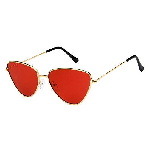 WWVAVA Sonnenbrillen Mode Frauen Farbe Luxus Flat Top Cat Eye Sonnenbrille Lila EleganteübergroßeSonnenbrillefür Frauen UV400, c3