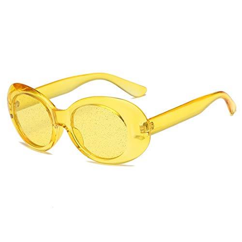 Shiduoli Saubere, runde Sonnenbrille für modische Kleidung aus Glas für Damen und Herren (Color : D)
